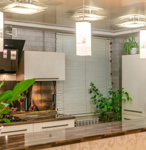 Белый кухонный гарнитур-Кухня из пластика «Модель 2»-фото10