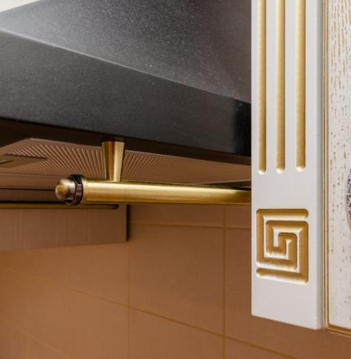 Белый кухонный гарнитур-Кухня из шпона «Модель 4»-фото10