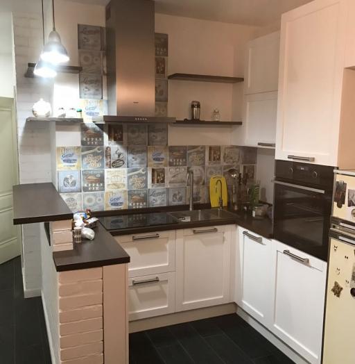 Белый кухонный гарнитур-Кухня МДФ в эмали «Модель 32»-фото2