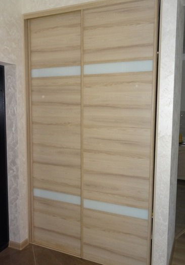 Встроенные шкафы-купе-Шкаф-купе из стекла Лакобель «Модель 46»-фото3
