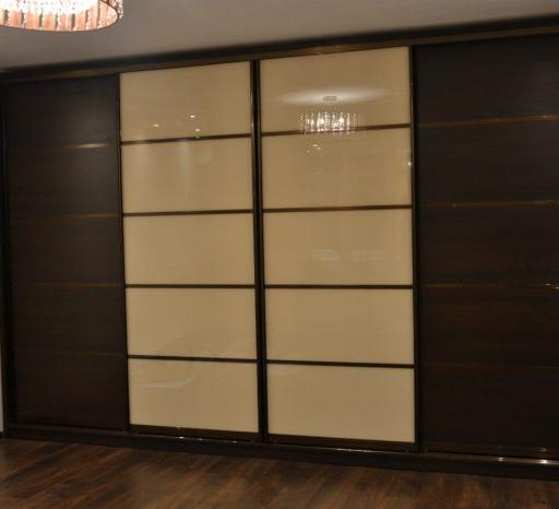 Большой шкаф-купе-Шкаф-купе из стекла Лакобель «Модель 126»-фото3