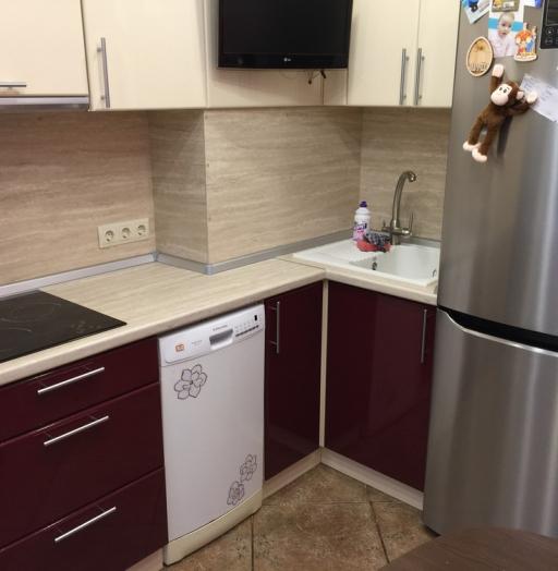 Белый кухонный гарнитур-Кухня МДФ в ПВХ «Модель 359»-фото6